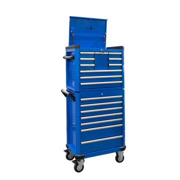 Blue Professional Rolling Top Truhe und Bottom Cabinet